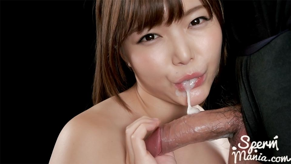 Spermmania 122 Shino Aoi's Blowjob with Her Cum Filled Mouth